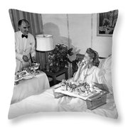 Luxurious Room Service Throw Pillow