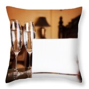 Luxury Hotel Room Throw Pillow