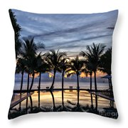 Luxury Infinity Pool At Sunset Throw Pillow