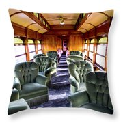 Luxury Lounge Car Of Early Railroading Throw Pillow