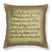 Luxury Of Music Throw Pillow