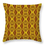 Luxury Red And Gold Christmas Kaleidoscope Throw Pillow