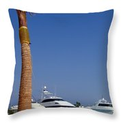 Luxury Yachts 03 Throw Pillow