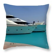 Luxury Yachts 04 Throw Pillow