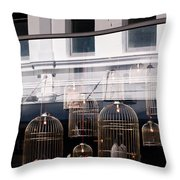 Lv Gilded Cage Bags Throw Pillow