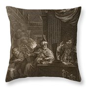Lycaon Metamorphosed Into A Wolf, 1731 Throw Pillow
