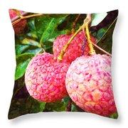 Lychee Fruit  Throw Pillow