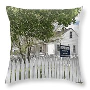 Lydia Leister Farm - Civil War Hospital Throw Pillow