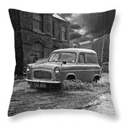 Lye Rain Storm, Ford Prefect Van - 1960's    Ref-244 Throw Pillow