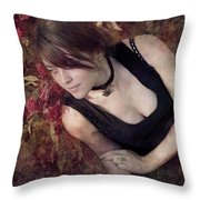 Lying Awake On A Bed Of Flowers Throw Pillow