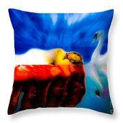 Lying In Blood Of Love Throw Pillow