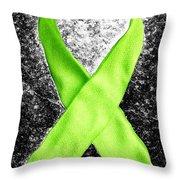 Lyme Disease Awareness Ribbon Throw Pillow by Luke Moore