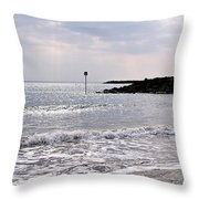 Lyme Regis Seascape - March Throw Pillow