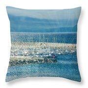 Lyme Regis Under Glass Throw Pillow