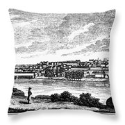 Lynchburg, Virginia, 1856 Throw Pillow
