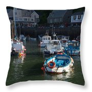 Lynmouth Harbour Devon Throw Pillow