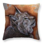 Lynx Face Throw Pillow