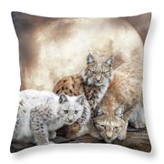 Lynx Moon Throw Pillow