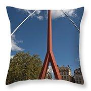 Lyon Bridge Throw Pillow