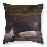 Lyons Falls  - Moose River Throw Pillow