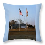 Lz Oasis 3d Brigade None Better Headquarters 4th Infantry Division Vietnam  1969 Throw Pillow