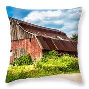 M-99 Barn Throw Pillow