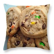 M And M - Chocolate Chip - Cookies - Bakery Shop Throw Pillow