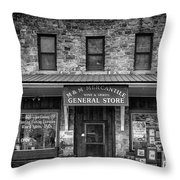M And M Mercantile Bw Throw Pillow