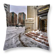 M And T Bank Downtown Buffalo Ny 2014 Throw Pillow