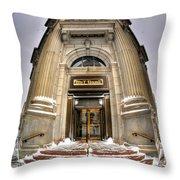 M And T Bank Downtown Buffalo Ny 2014 V2 Throw Pillow