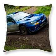 M. Cairns Driving Subaru Impreza Throw Pillow