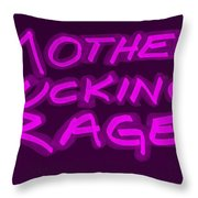 M F R Purple Throw Pillow