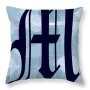 M Is For Me Throw Pillow