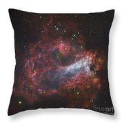 M17, The Omega Nebula In Sagittarius Throw Pillow