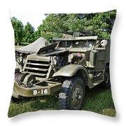 M3 Half-track Throw Pillow