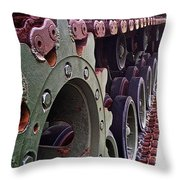 M60 Patton Tank Tread Throw Pillow