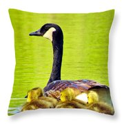 Ma And Kids Throw Pillow