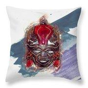 Maasai Mask - The Rain God Ngai Throw Pillow