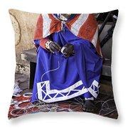 Maasai Woman Throw Pillow