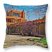 Mabel Dodge Luhan's Courtyard Throw Pillow