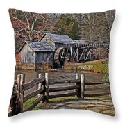 Mabry Mill 2 Throw Pillow