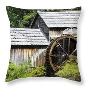 Mabry Mill Close Up Throw Pillow
