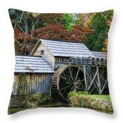 Mabry Mill II Throw Pillow by Joan Bertucci