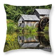 Mabry Mill In Virginia Throw Pillow