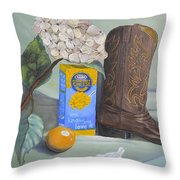 Mac N Cheese Throw Pillow