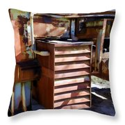 Micabrite Plant Rusty Gold Throw Pillow