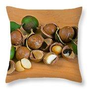 Macadamia Nuts Throw Pillow