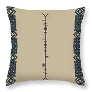 Macaleese Written In Ogham Throw Pillow