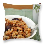 Macaroni Dinner Throw Pillow