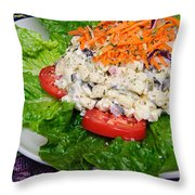 Macaroni Salad 2 Throw Pillow by Andee Design